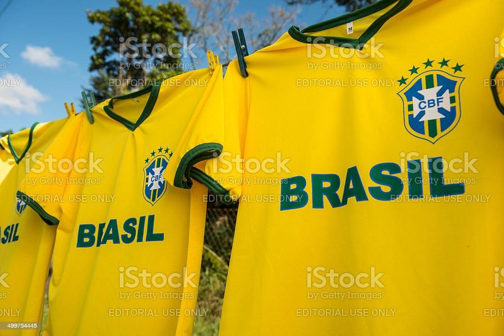 Imitação da equipe de futebol brasileiro - foto de acervo