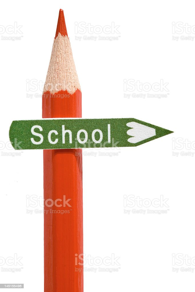 Imitation signboard on education concept royalty-free stock photo