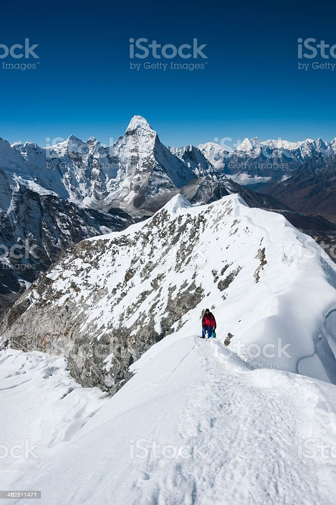 Imja Tse or Island peak climbing, Everest region, Nepal stock photo