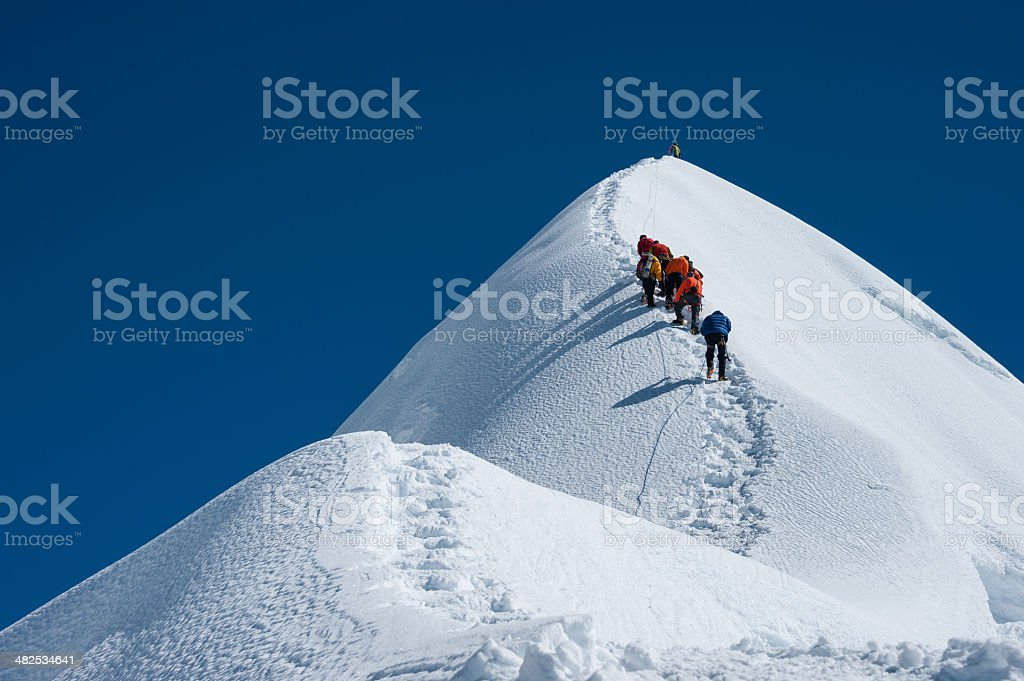 Imja Tse or Island peakclimbing, Everest region, Nepal stock photo