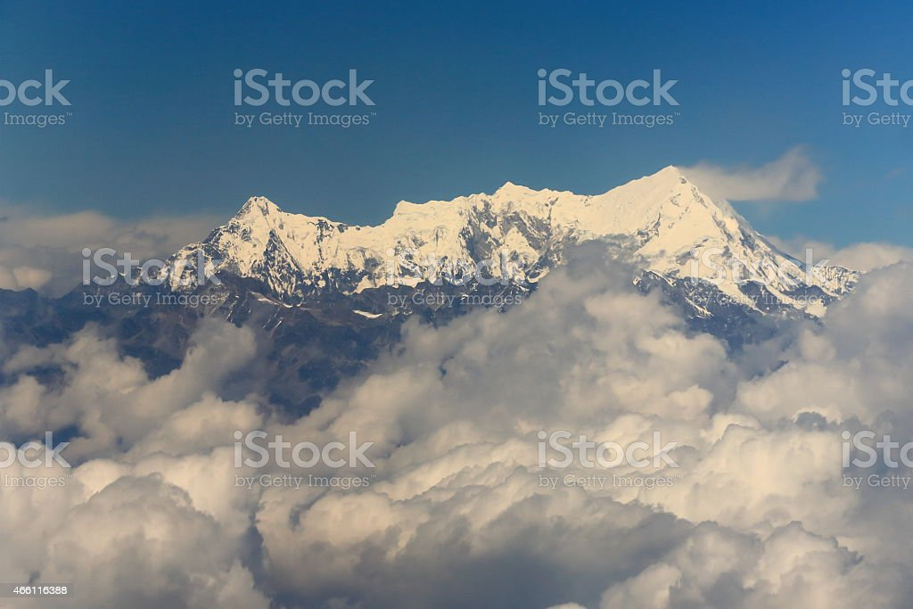 Imja Tse-Island Peak aerial view. Nepal. 1105 stock photo