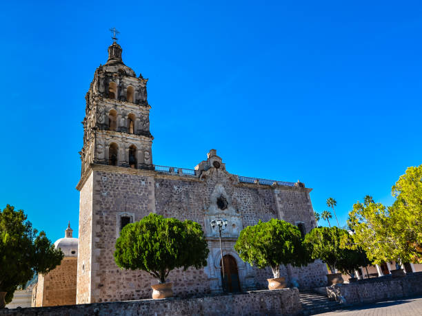 Immaculate Conception Church - Alamos, Sonora, Mexico stock photo