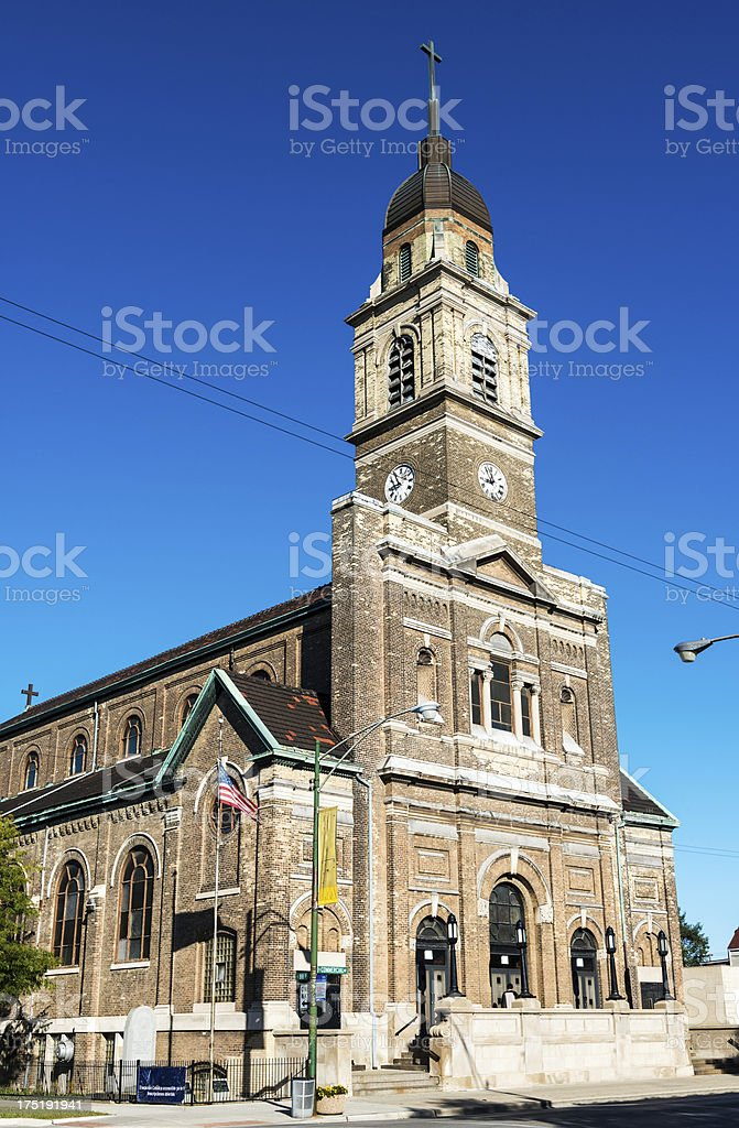 Immaculate Conception Church in South Chicago royalty-free stock photo