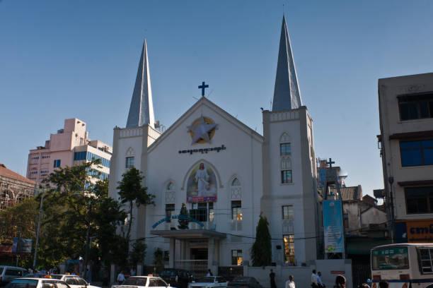 immanuel baptist church, yangon, myanmar - sterntaufe stock-fotos und bilder