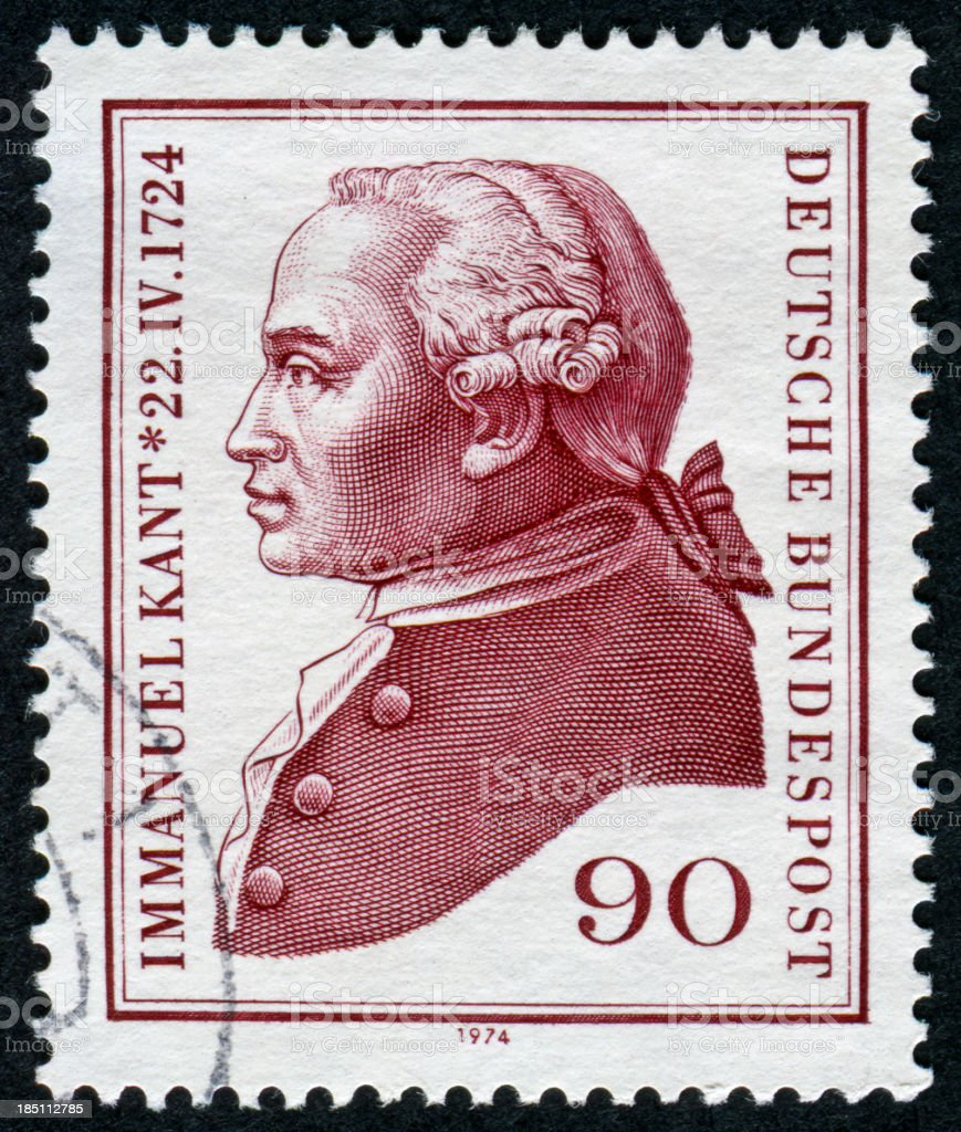 Immanuel Kant Stamp royalty-free stock photo