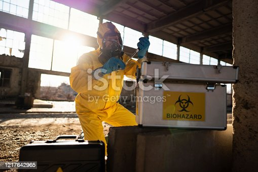 istock Immediately analyzing the toxicity 1217642965
