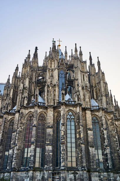 Immense amount of spires of Cologne Cathedral reaching towards the sky stock photo