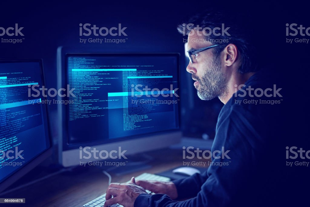 Immersed in the metadata stock photo