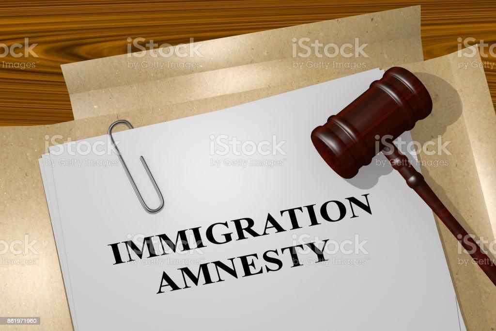 Immigration Amnesty concept stock photo