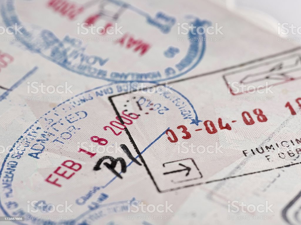 Immigration and visa for travel royalty-free stock photo