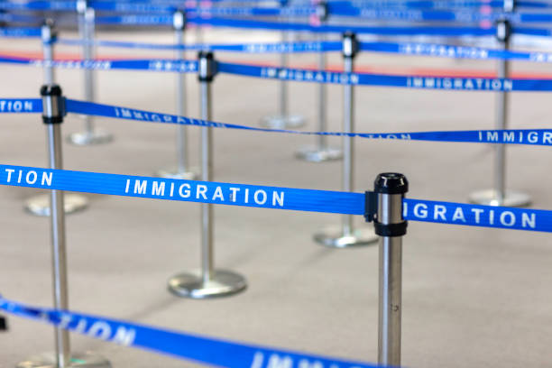 immigration board line immigration board line green card stock pictures, royalty-free photos & images
