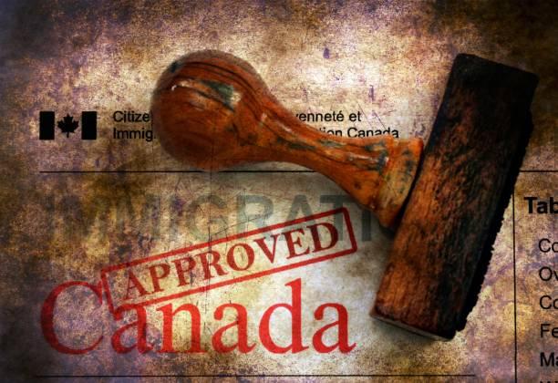Immigration Kanada - zugelassenen Grunge-Konzept – Foto