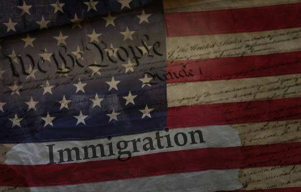 US Immigration concept stock photo
