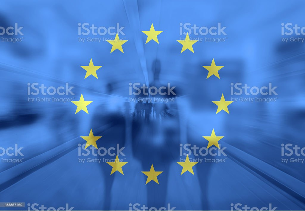 Immigration crisis stock photo
