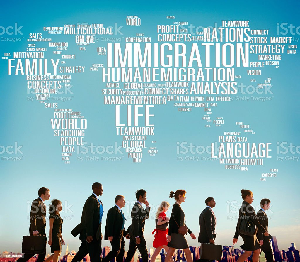 Immigration International Government Law Customs Concept stock photo