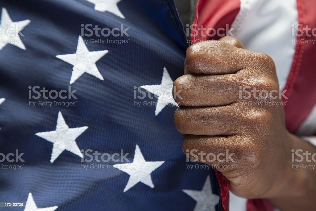 Immigration, Patriotism. stock photo