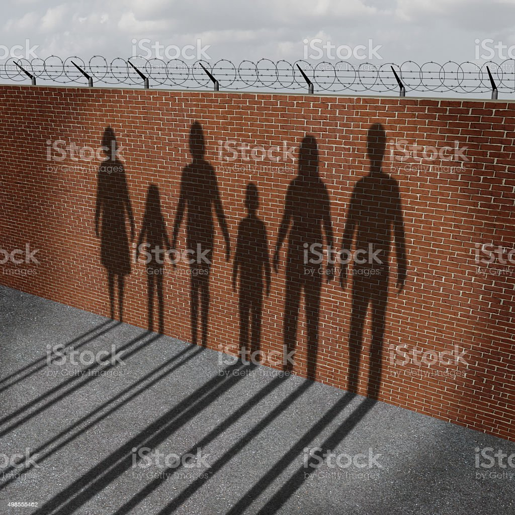 Immigration People On Border stock photo