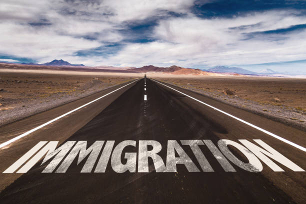 Immigration Immigration road sign green card stock pictures, royalty-free photos & images