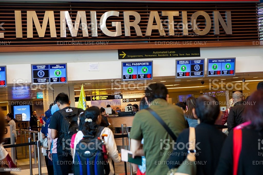 Immigration place in Singapore South East of Asia stock photo