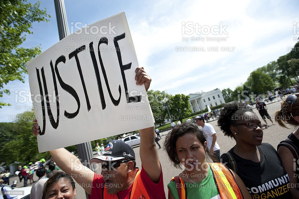Immigration Protest at White House royalty-free stock photo