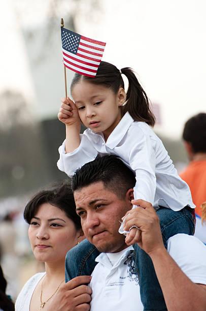 Immigration Rally in Washington stock photo
