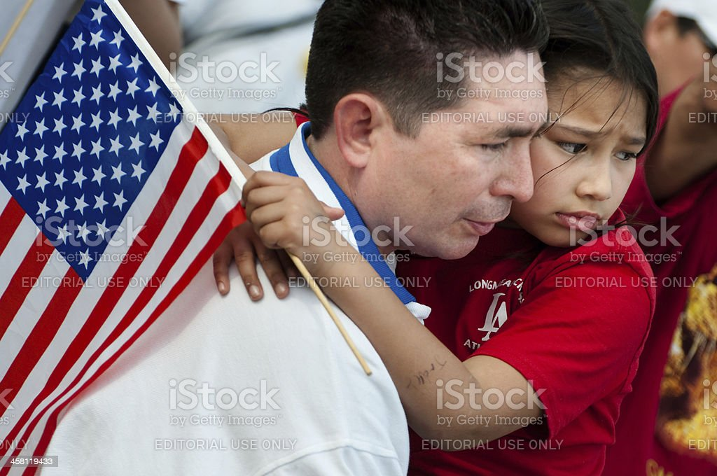 Immigration Rally in Washington royalty-free stock photo