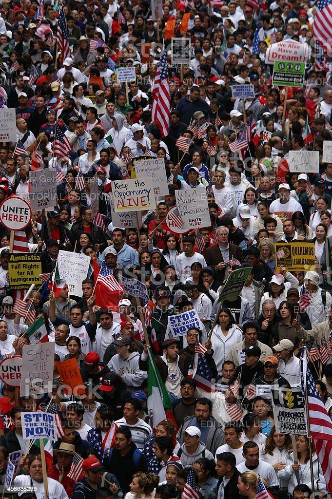 Einwanderung Rechte Demonstration – Foto