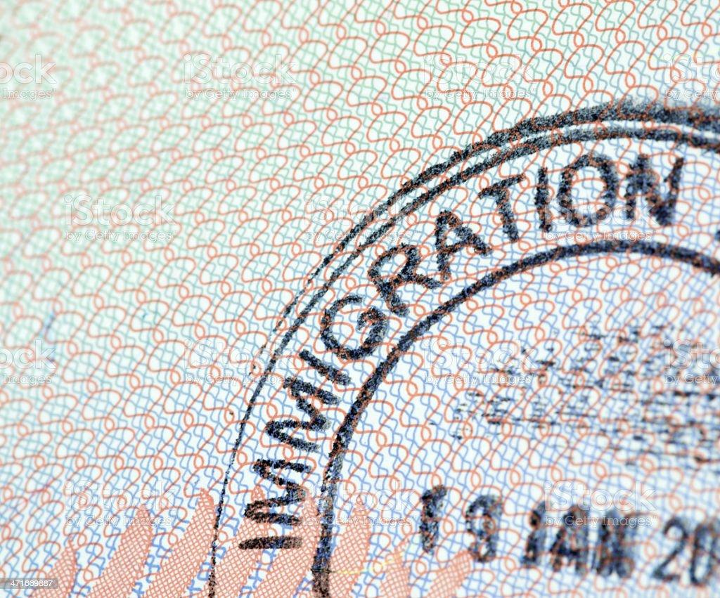 Immigration Visa Passport Stamp royalty-free stock photo