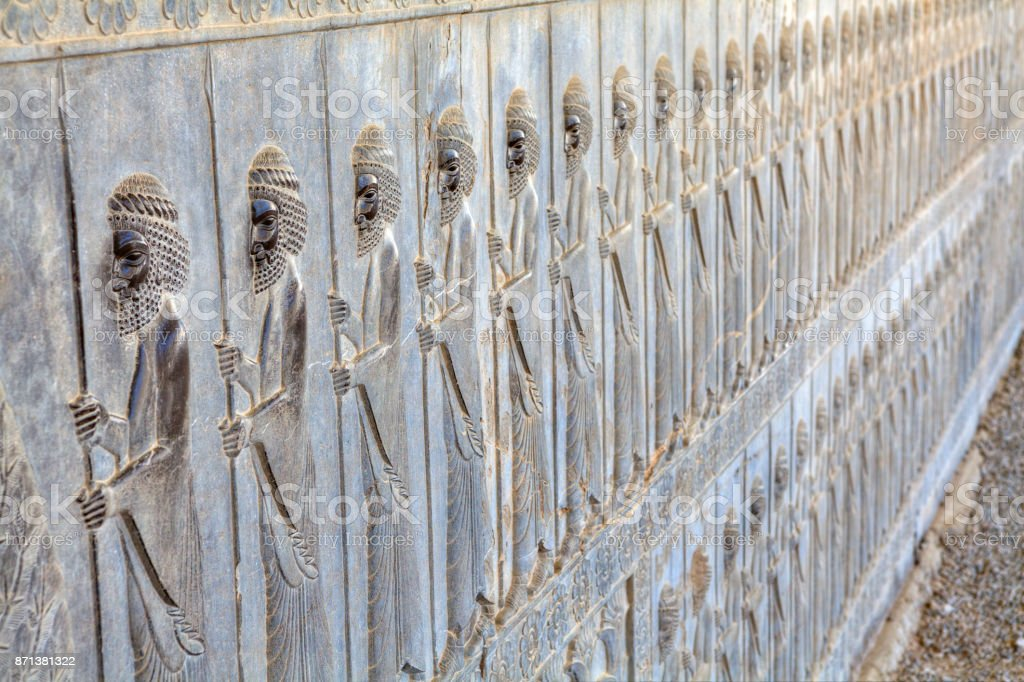 Immortals Persian Guard Basrelief In Xerxes Palace Persepolis Iran Stock Photo Download Image Now Istock