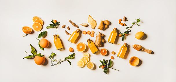 Immune boosting natural vitamin health defending drink to resist virus
