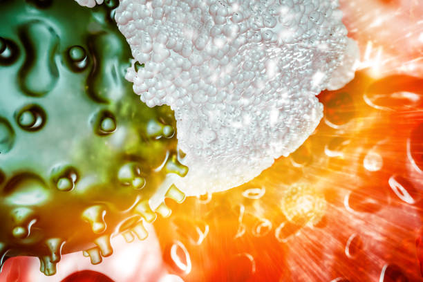 immune system virus stock photo
