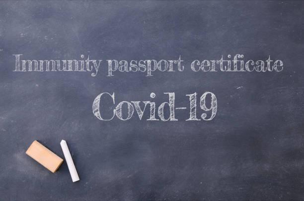 Immunity passport certificate. – zdjęcie