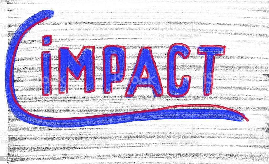 impact concept stock photo