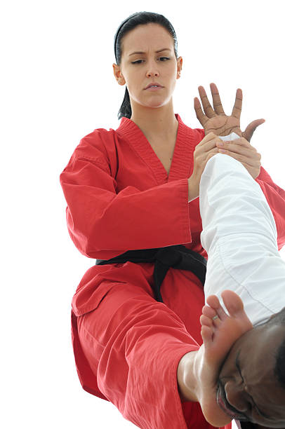 impact self defense - karate stock photos and pictures