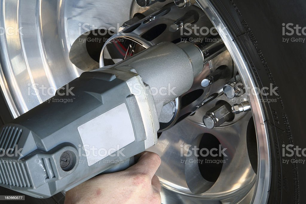 Impact Wrench at Work stock photo