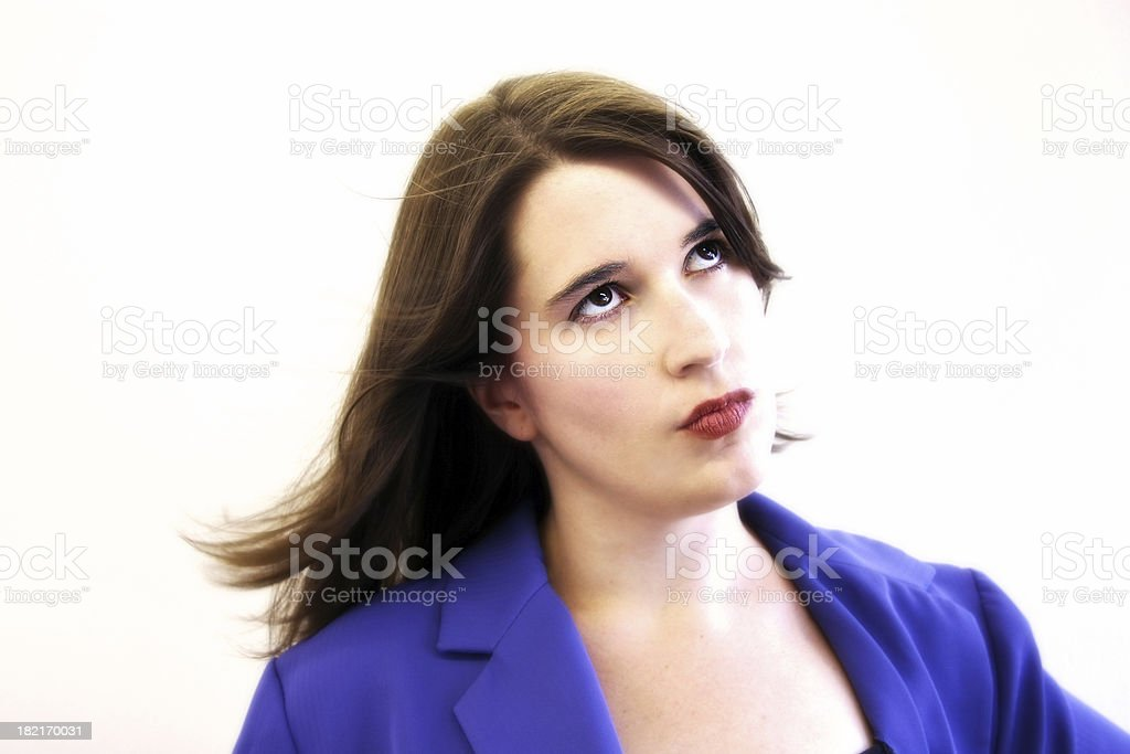 Impatiend business woman royalty-free stock photo