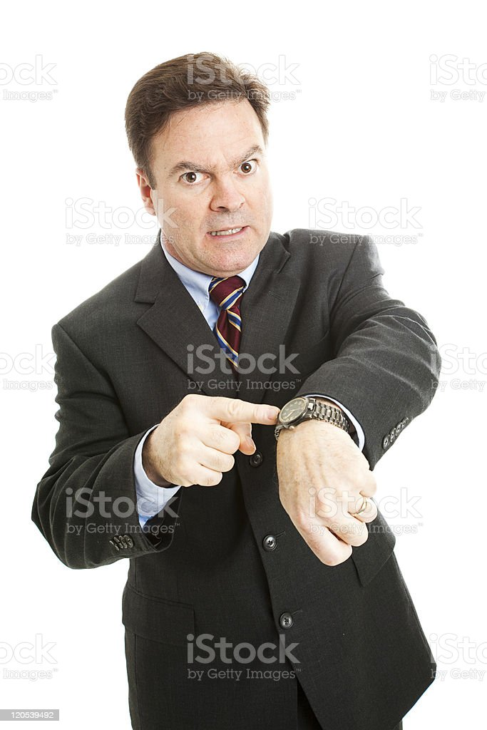 Impatient Businessman royalty-free stock photo