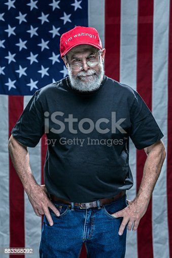 istock Impatient Skeptical Disgusted Partisan Redneck Republican Voter 883368092