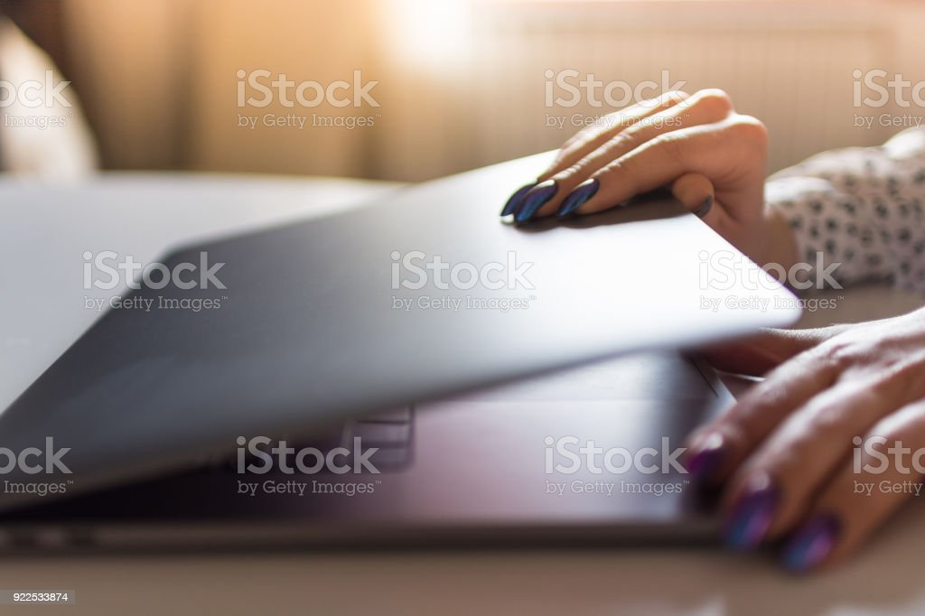 Impatient to start working on her latest design stock photo