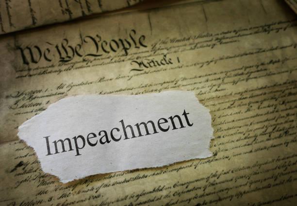 Impeachment news headline stock photo