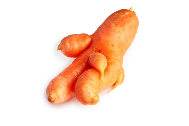 imperfect organic carrot - disfigure stock pictures, royalty-free photos & images