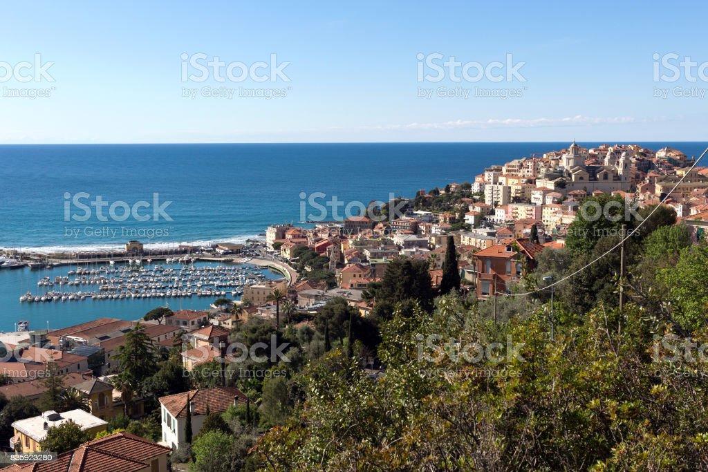 Imperia - View of Porto Maurizio. Italian Riviera,  Liguria. stock photo