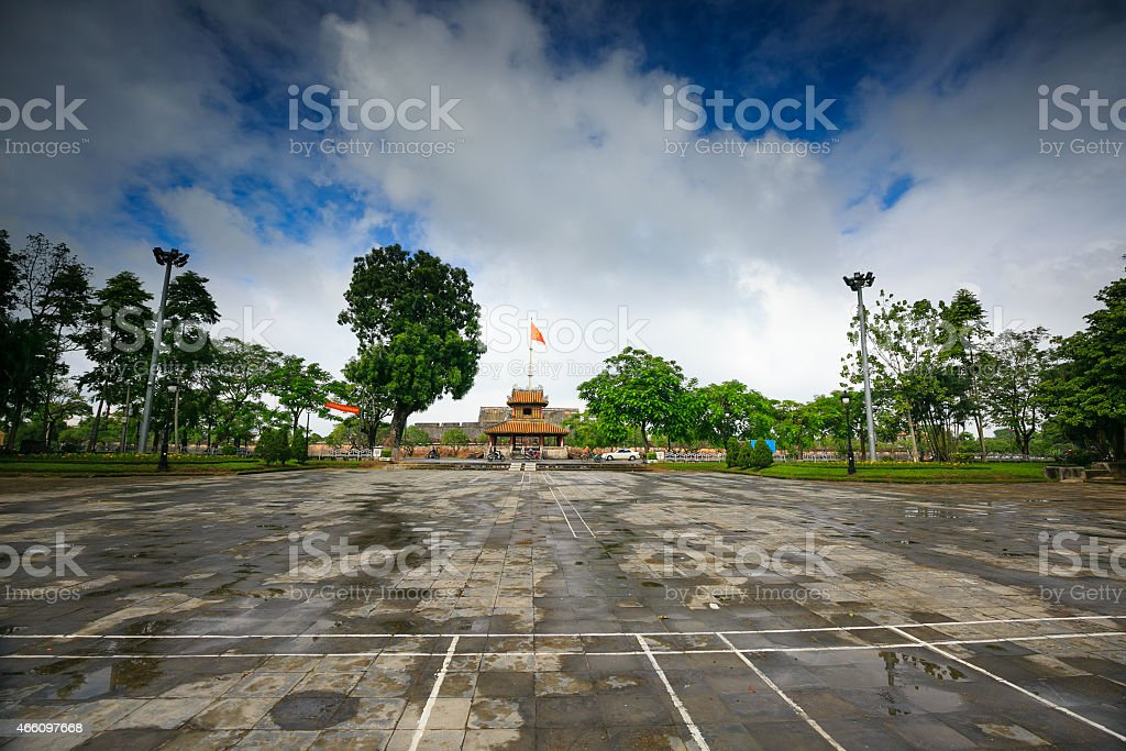 Imperial City in Hue stock photo