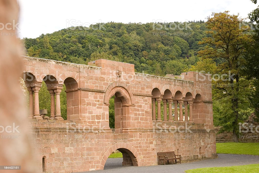 Imperial Country Palace Wall stock photo
