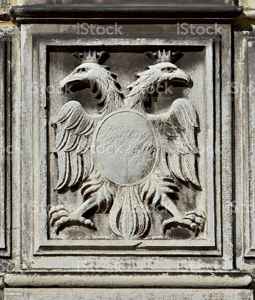 Imperial double-headed eagle stock photo