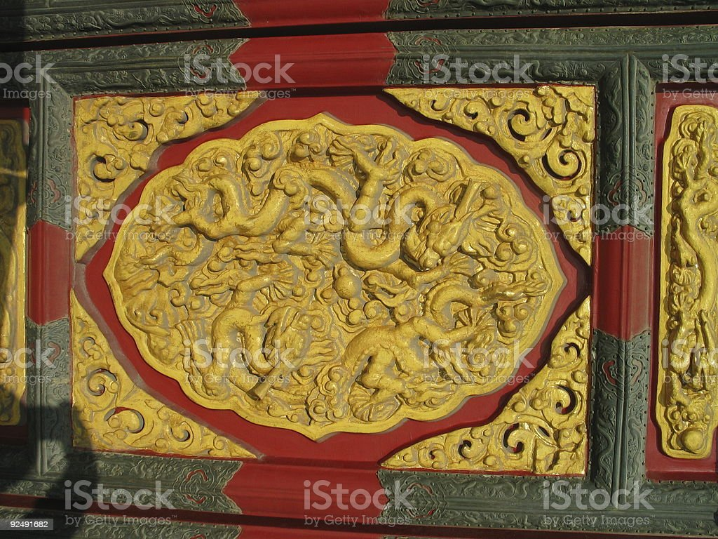Imperial Dragons, Forbidden City royalty-free stock photo