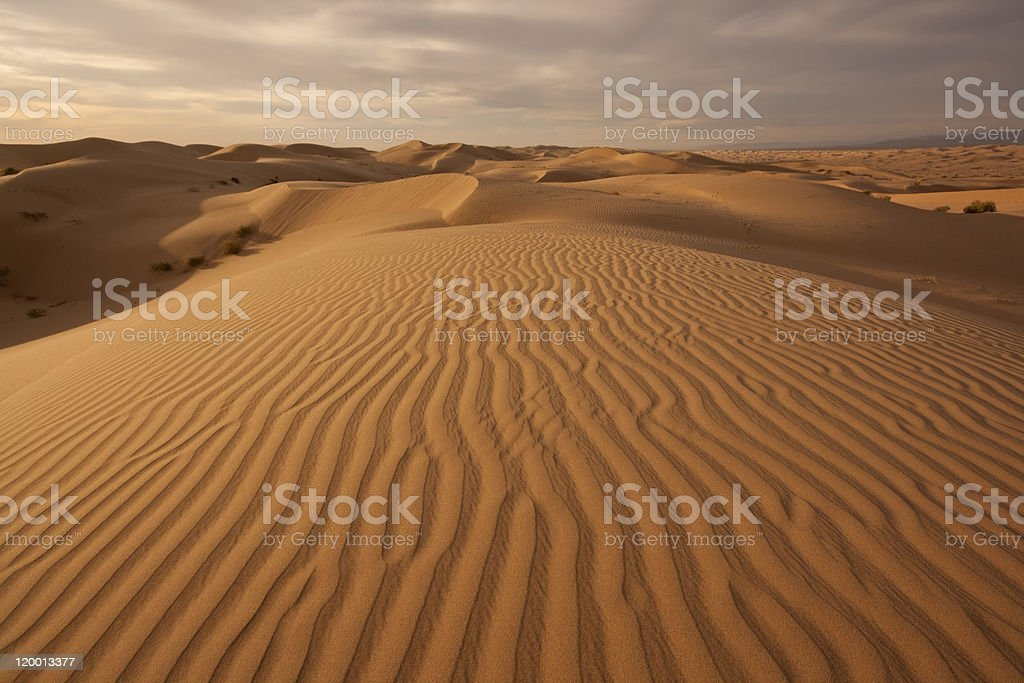 Imperial Dunes at sunset stock photo