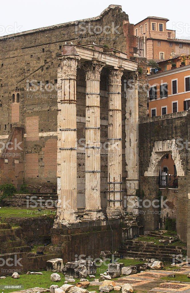 Imperial Fora, Rome stock photo