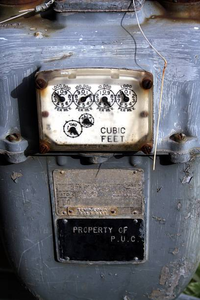 Imperial Gas Meter stock photo