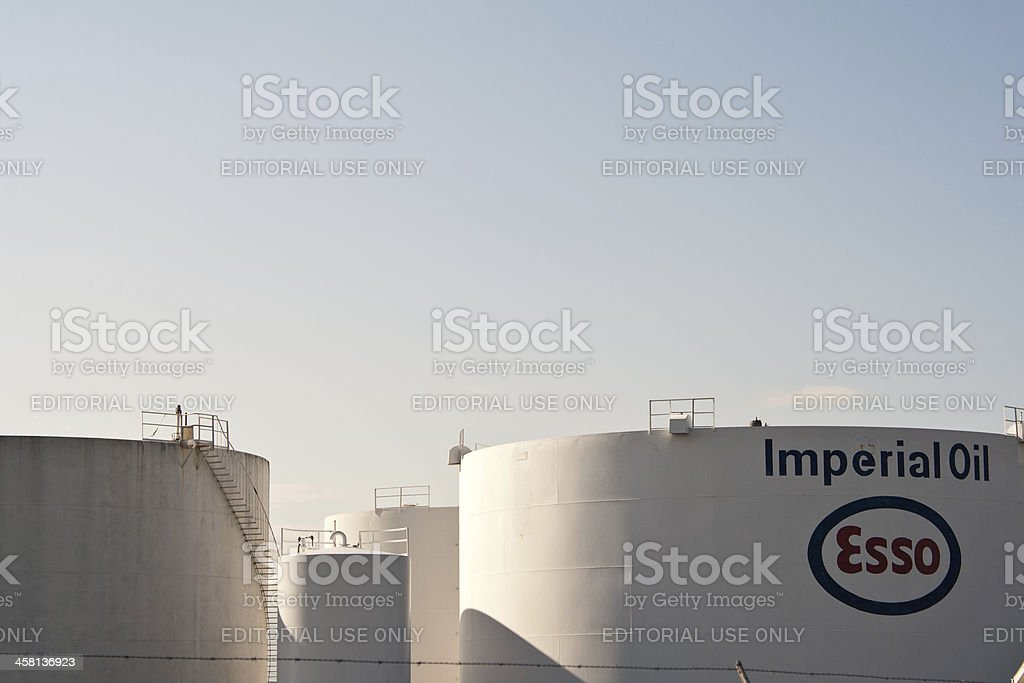 Imperial Oil Esso Storage Facility Tanks royalty-free stock photo